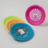 36 Units of Paper Plate Holder 3pk Plastic 4ast Summer Colors In 36pc Pdq Summer Shrink/label - PLASTIC ITEMS