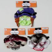36 Units of Mask Halloween Half Face Child 3ast Dracula/pirate/witch Hal Header Card - Halloween & Thanksgiving