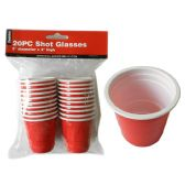 72 Units of 20pc Shot Cup - Party Tableware