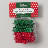 96 Units of Cookie Cutters Christmas Plastic 6pk Approx 3in W/mesh Bag On Mdsg Strip Christmas Header
