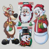 72 Units of Cutout Jointed 36in Paper 4asst Christmas Icons Each In Pb/header