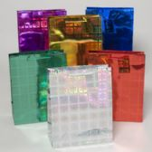 144 Units of Gift Bag Large Christmas Laser Snowflake 10.25x12.75x5 6ast Colors Upc Label/pls Hangtab