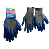 144 Units of 1 Pair Working Gloves With Blue Rubber - Working Gloves