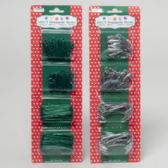 144 Units of Ornament Hooks 300ct Green Or Zinc Plated Christmas Blistrcard - Christmas Ornament