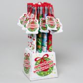 128 Units of Pencil Jumbo 12.5in Christmas 4prints W/sharpener 16pc Pdq Ht - Christmas Novelties