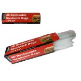 96 Units of Reclosable Sandwich Bags 40pc - Food Storage Bags