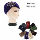 60 Units of Woman's Assorted Color Headband With Rhinestone - Headbands