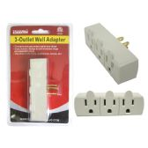 144 Units of ETL UL Std. 3-Outlet Wall Adapter - Chargers & Adapters