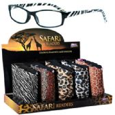 250 Units of Seevix Express Safari Reading Glasses Display - Reading Glasses