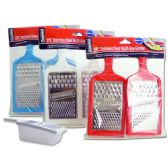 72 Units of Grater 2pc W/Cont - Kitchen Utensils