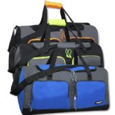 24 Units of 24 Inch Multi Pocket Duffle Bag Assorted Color - Duffle Bags