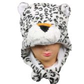 24 Units of Winter Animal Hat White Panda Bear