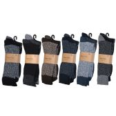 60 Units of Men's Heavy Boot Socks In Size 10-13 And Assorted Colors