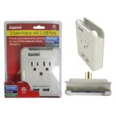 24 Units of ETL UL Std. Outlet Adapter 2 +2 Usb - Chargers & Adapters