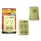 48 Units of 2 Outlet Adapter 2 USB Ports - Chargers & Adapters