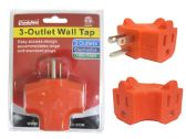72 Units of 3 Outlet Wall Tap - Chargers & Adapters