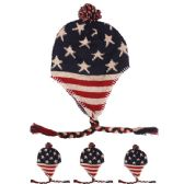 72 Units of AMERICAN FLAG CHULLO WINTER HAT - Winter Helmet Hats