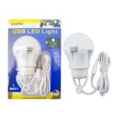 72 Units of 3 Watt USB LED Light Bulb - Lightbulbs
