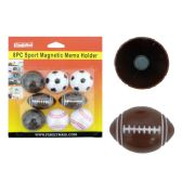 72 Units of 6 Piece Magnetic Sport Ball - Clips and Fasteners