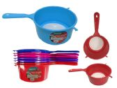 144 Units of Colander with Handle - Strainer/Funnel