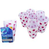 72 Units of Polka Dot Pattern Cup, Blue And Pink. - Plastic Drinkware