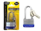 144 Units of 30mm Laminated Lock With Long Shackle - PADLOCKS/IRON/BRASS/COMBO