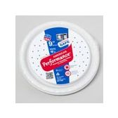 84 Units of 10 Count 9 Inch White Plastic Plate - Disposable Plates & Bowls