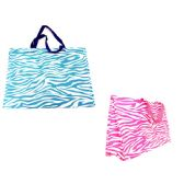 144 Units of Zebra Print Shopping Bag - Bags Of All Types