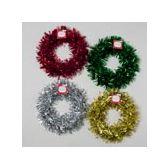 72 Units of 10 Inch Christmas Wreath - Christmas Novelties