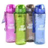 24 Units of Water Bottle with Filter 22oz w/ Top Asst Colors - Drinking Water Bottle