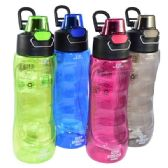 24 Units of Water Bottle with Filter 24oz Flip Top - Drinking Water Bottle