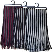 48 Units of Winter Scarf Stripes Assorted Colors HD - Winter Scarves