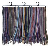 48 Units of Winter Scarf Stripes Assorted Colors - Winter Scarves