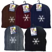 48 Units of Winter Hat Snowflakes Assorted Colors