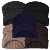 48 Units of Winter Hat With Visor Assorted Colors - Fashion Winter Hats