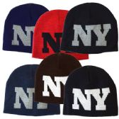 48 Units of Winter Hat New York Assorted Colors - Fashion Winter Hats