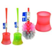 48 Units of Toilet Brush W/Base Asst Clr - Toilet Brush