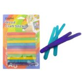 72 Units of Craft Stick 72pc Multi Color - Craft Wood Sticks and Dowels
