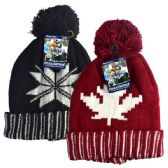 48 Units of Winter POM POM HD hat Leaf & Snow
