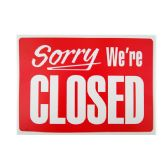 """144 Units of """"We're Closed"""" Sign 20*30cm - Signs & Flags"""