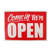 """144 Units of """"We're Open"""" Sign """" 20*30cm - Signs & Flags"""