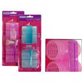 96 Units of 5 Piece Cling Hair Rollers - Hair Rollers