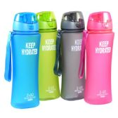 24 Units of Water Bottle solid with Filter 24oz Covered Top - Drinking Water Bottle