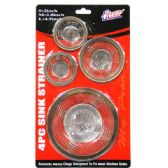 72 Units of 4 Piece Sink Strainer - Strainers & Funnels