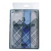 72 Units of 3 Pack Men's handkerchiefs - Handkerchief