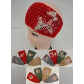 12 Units of Hand Knitted Ear Band [Embroidered with Rhinestones] - Ear Warmers