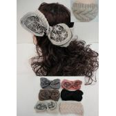 12 Units of Hand Knitted Ear Band [Scrollwork Bow] LOOP - Ear Warmers