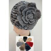 12 Units of Wide Hand Knitted Ear Band [Variegated-Flower] - Ear Warmers
