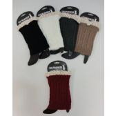 12 Units of Boot Cover [Cable Knit with Antique Lace] - Footwear Accessories