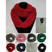 24 Units of Knitted Infinity Scarf [Basket Weave] - Winter Scarves